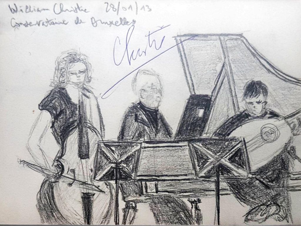 Croquis 004 William Christie, Conservatoire de Bruxelles, 28/01/13