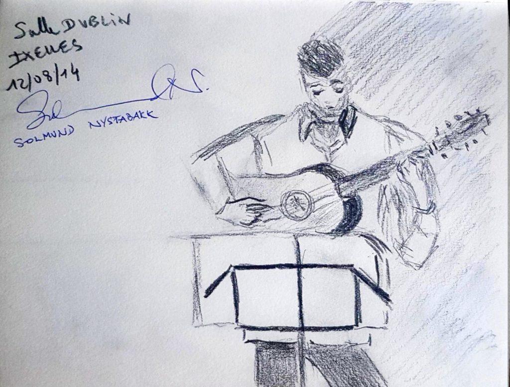 Croquis 011 Salle Dublin à Ixelles Répétition 12/08/14
