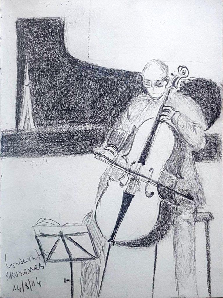 Croquis 013 Conservatoire de Bruxelles 14/08/14