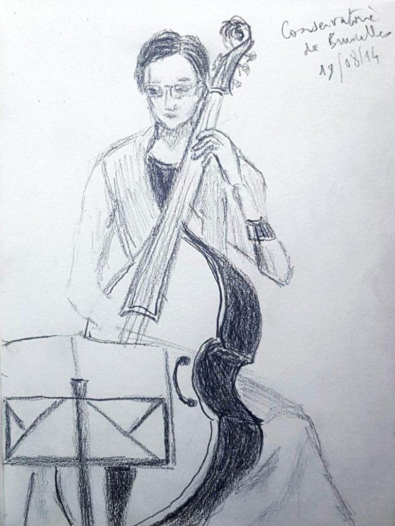 Croquis 014 Conservatoire de Bruxelles 19/08/14