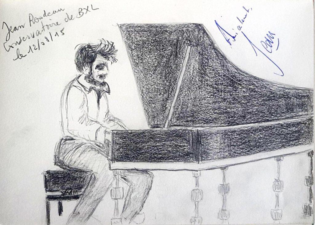 Croquis 021 Jean Rondeau Conservatoire de Bruxelles, 12/08/15