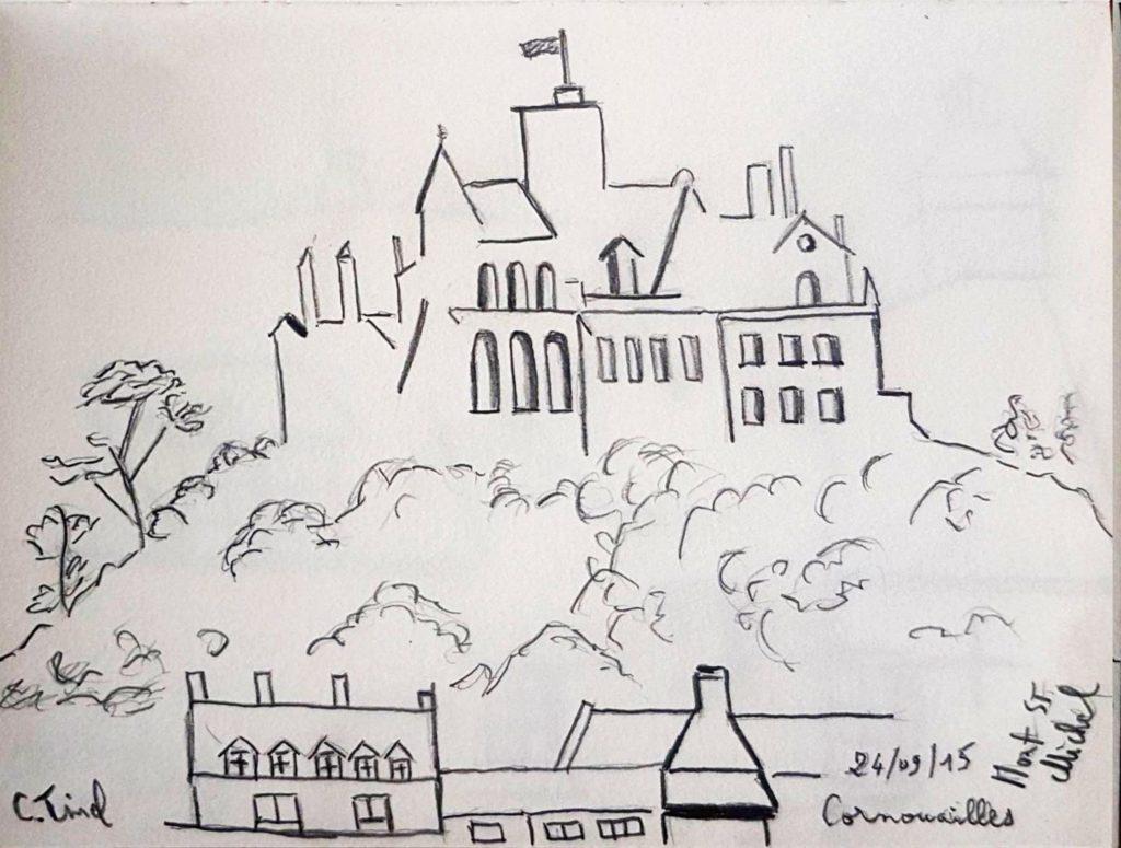 Croquis 022 Mont St Michel en Cornouailles 24/09/15