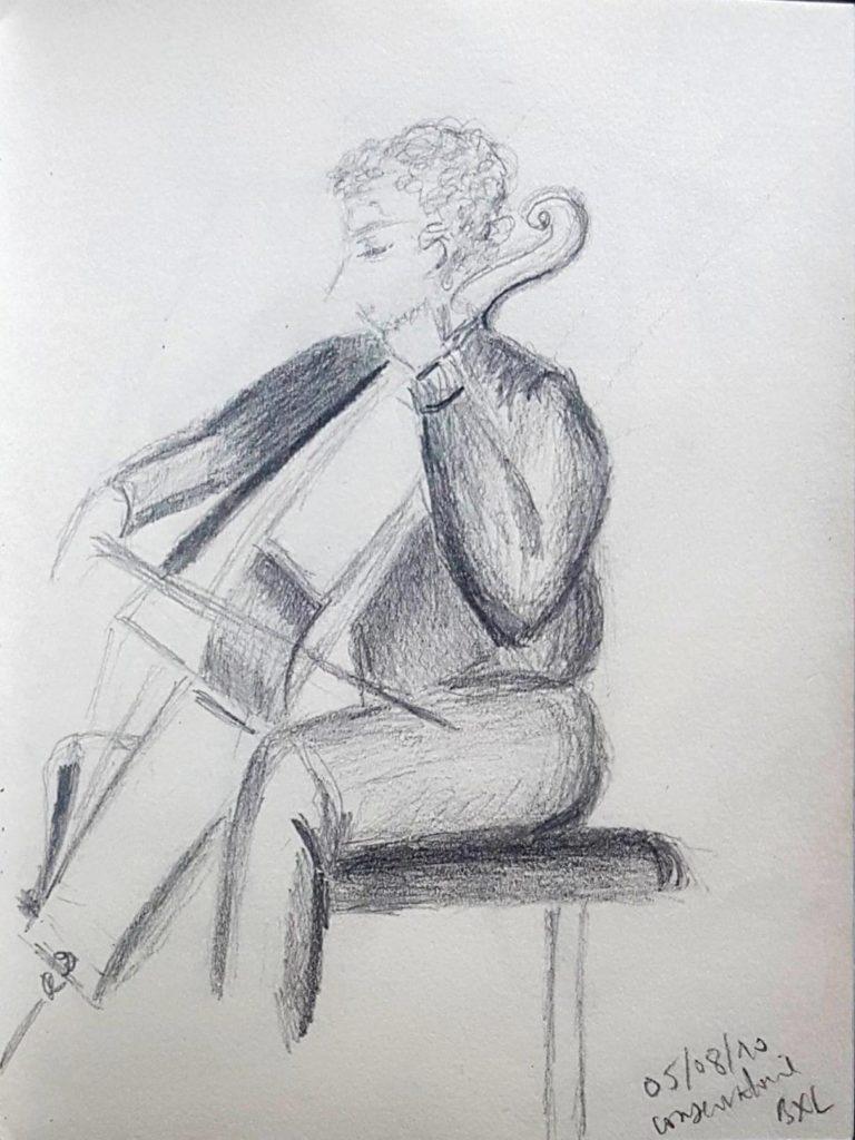 Croquis 058 Conservatoire de Bruxelles 05/08/10