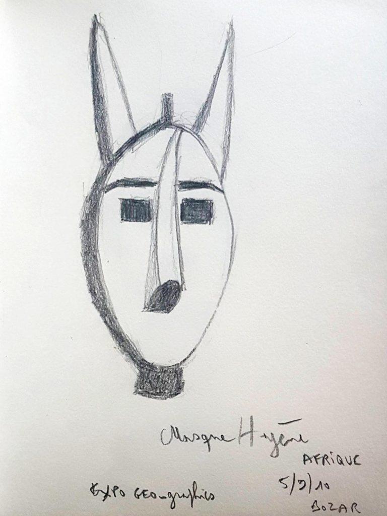 Croquis 061 Masque africain, BOZAR 5/9/10