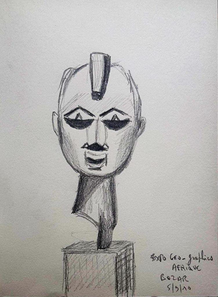Croquis 062 Sculpture africaine, BOZAR 5/9/10