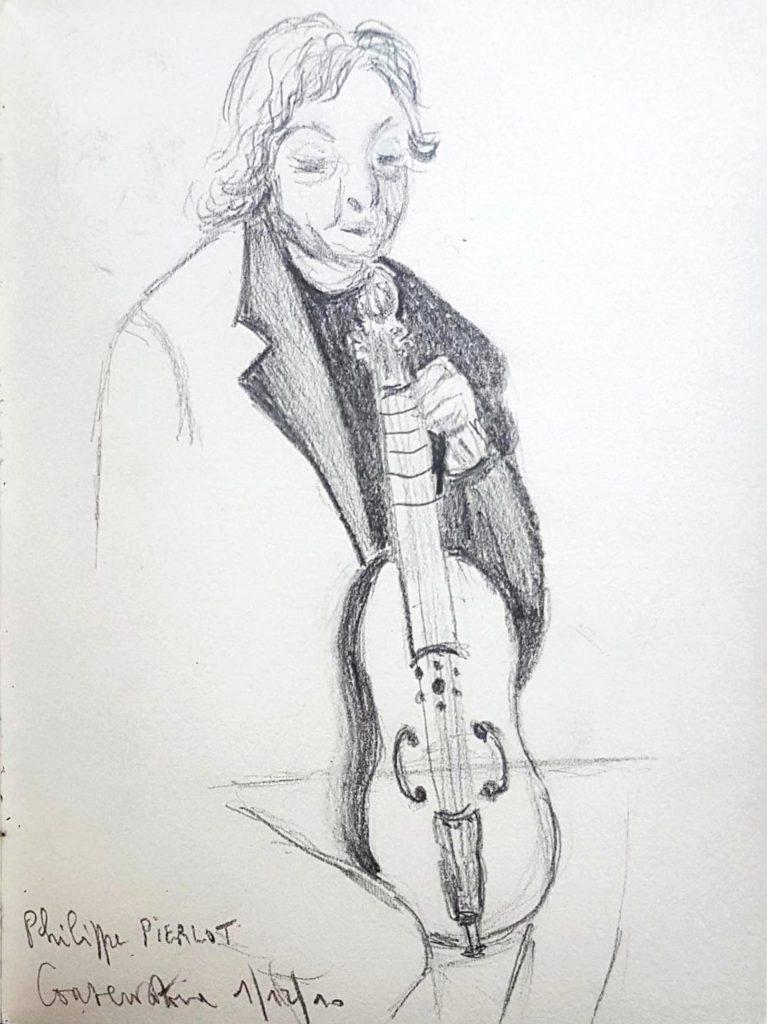 Croquis 063 Philippe Pierlot, Conservatoire de Bruxelles, 1/12/10