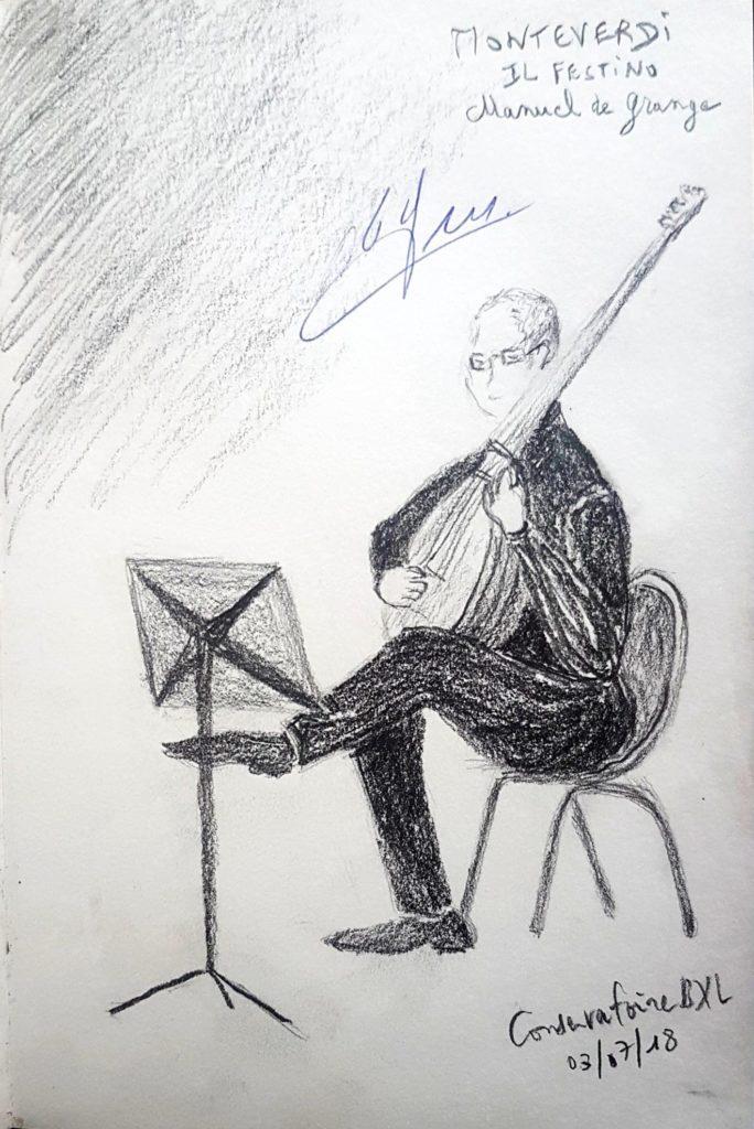 Croquis 075 Conservatoire de Bruxelles 03/07/18