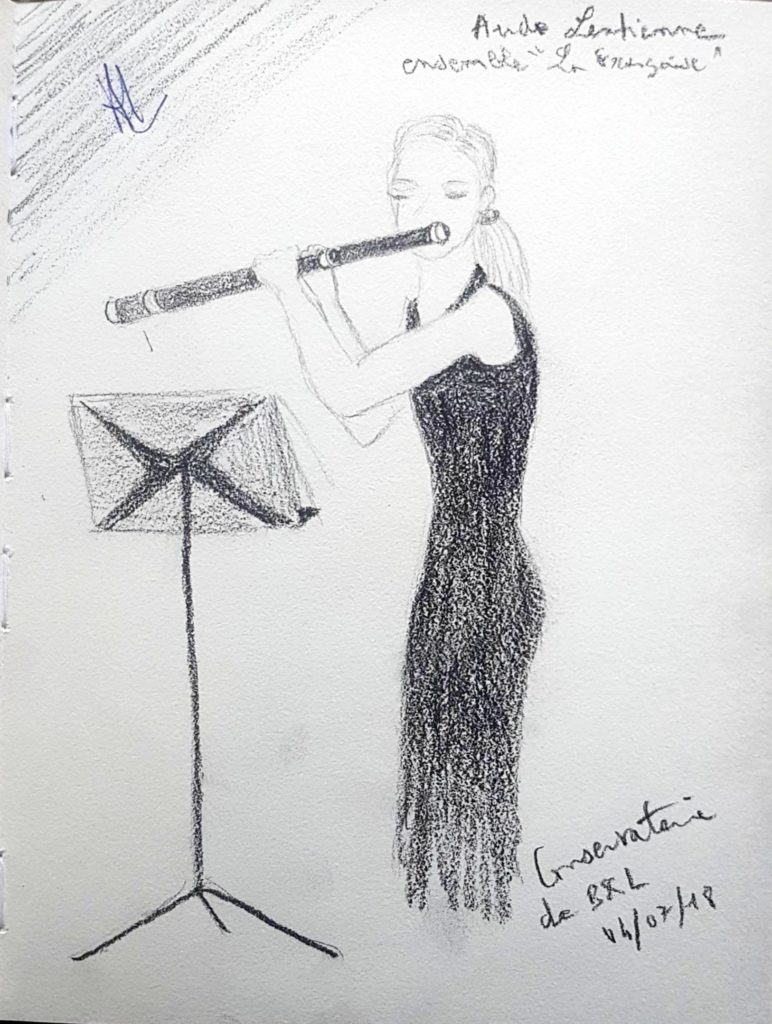 Croquis 076 Conservatoire de Bruxelles 04/07/18