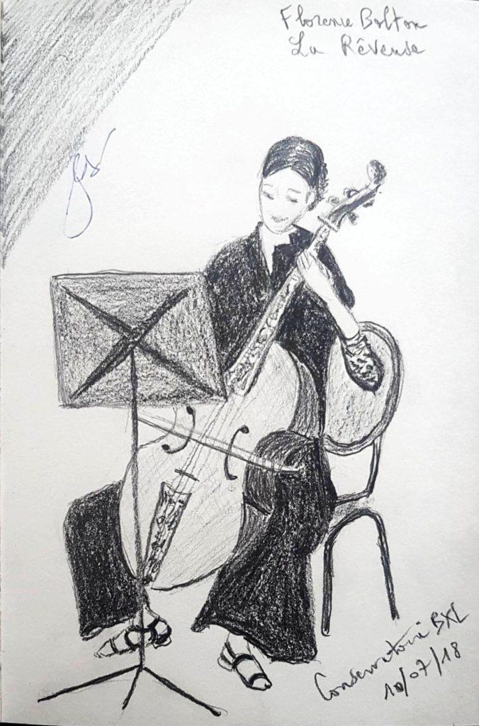 Croquis 078 Conservatoire de Bruxelles 10/07/18