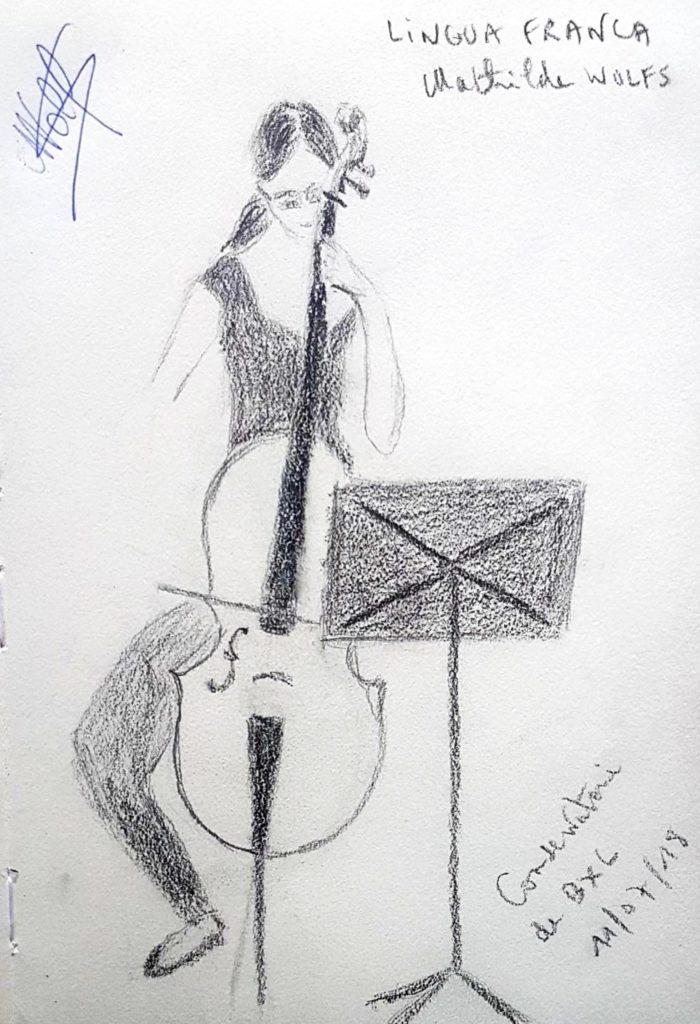 Croquis 080 - Conservatoire de Bruxelles 11/07/18
