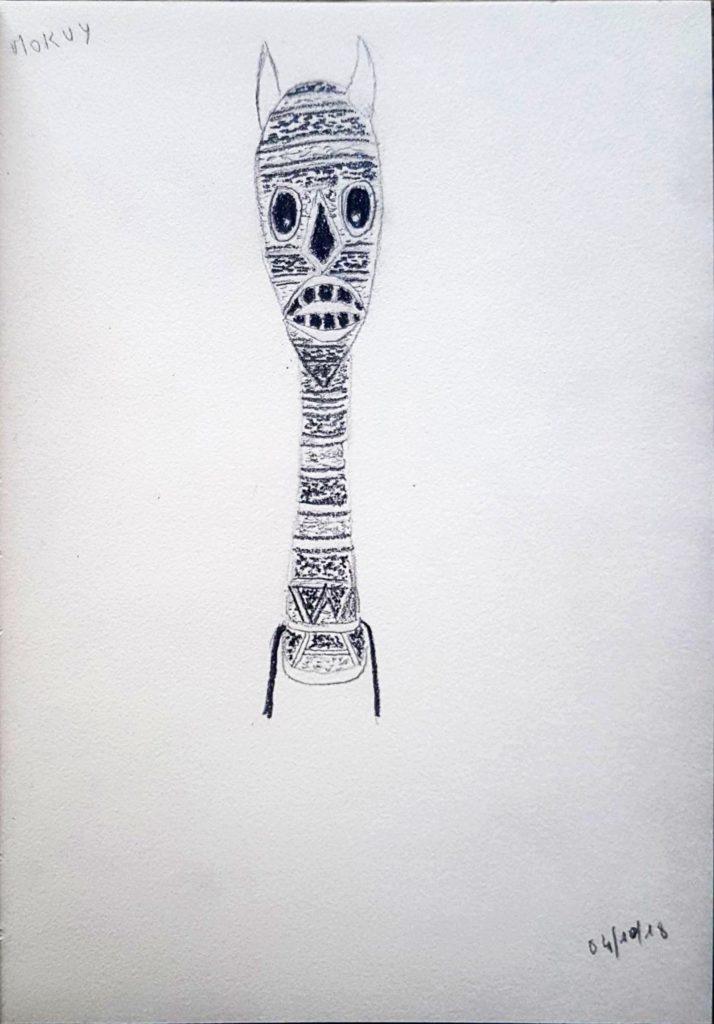Croquis 083 - Sculpture aborigène